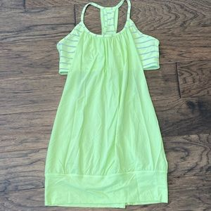 Size 8 Lululemon Clear Mint/Stripe No Limits Tank